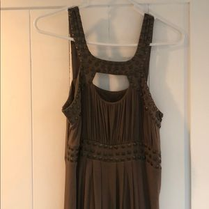 Brown Maxi with Bronze Details